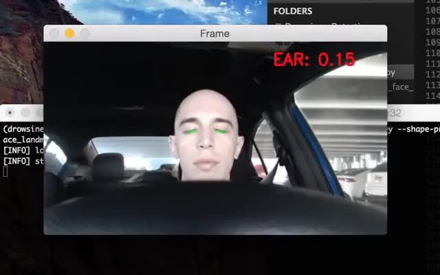 Driver Drowsiness Detection with OpenCV GIF | Find, Make