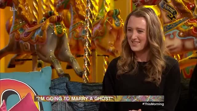 Watch I'm Going to Marry My Ghost | This Morning GIF on Gfycat. Discover more bizarre, funny, ghost, halloween, interview, strange GIFs on Gfycat