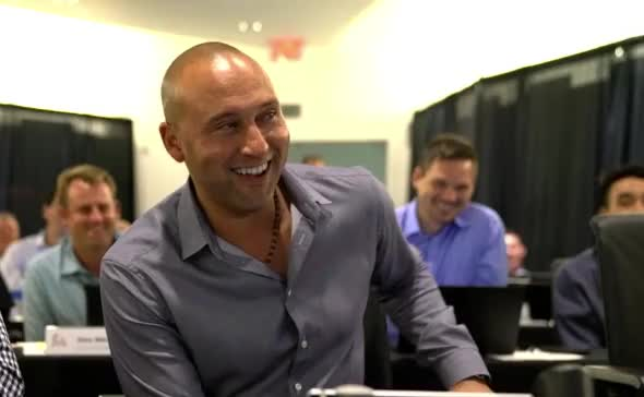 Watch derek jeter laugh GIF by Ely Sussman (@realely) on Gfycat. Discover more baseball, derek jeter, draft, marlins, mlb GIFs on Gfycat