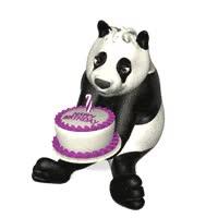 Magnificent Panda Bear Birthday Cake Gif Gfycat Funny Birthday Cards Online Inifofree Goldxyz