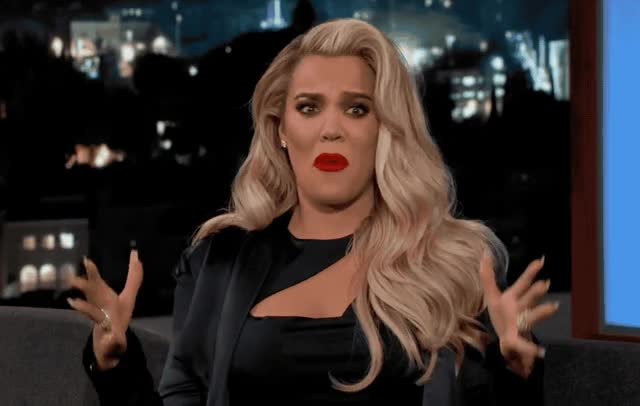 Watch this khloe kardashian GIF by ioanna on Gfycat. Discover more afraid, fuck, god, jimmy, kardashian, khloe, khloe kardashian, kimmel, kuwtk, my, oh, omg, pregnant, scared, surprise, the, what GIFs on Gfycat