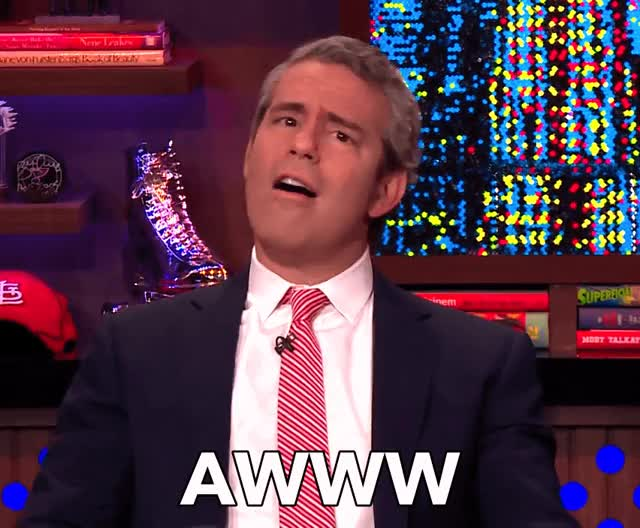 Watch this awww GIF by The GIF Smith (@sannahparker) on Gfycat. Discover more andy cohen, awww, flattered, how sweet, watch what happens live, you shouldnt have GIFs on Gfycat