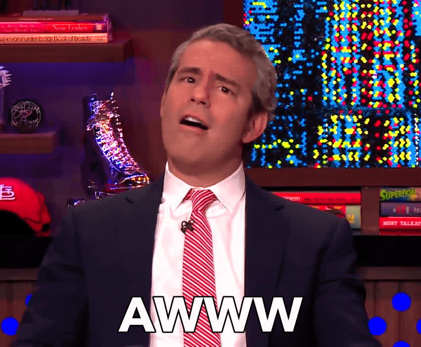andy cohen, awww, flattered, how sweet, watch what happens live, you shouldnt have, Andy Cohen Awww GIFs