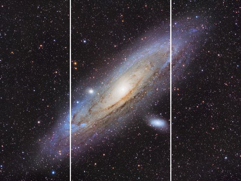 splitdepthgifs, Andromeda Zoom GIFs