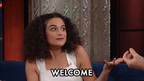 Jenny Slate, welcome, welcomeback, welcomehome, welcome GIFs