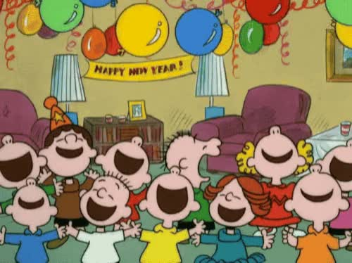 Watch this happy new year GIF by The GIF Smith (@sannahparker) on Gfycat. Discover more celebrate, charlie brown, happy new year, new year, new years, new years eve, party, peanuts, yay GIFs on Gfycat