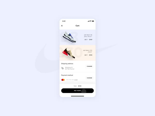 Watch and share Dribbble-nike-checkout GIFs on Gfycat