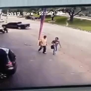 Watch and share Runaway Tyre Hits Man On Head Almost Killing Him GIFs on Gfycat