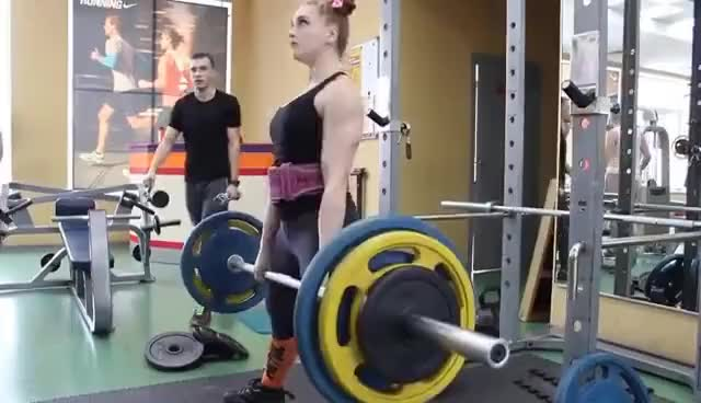 Watch and share Julia Vins | 1st Week FEB Powerlifting Workout GIFs on Gfycat