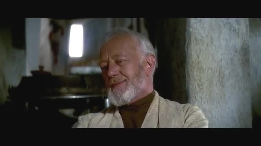 actuallyfunny, alec guinness, starwars, starwarsleaks, He was a good friend GIFs