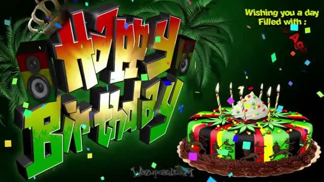 Watch and share HAPPY BIRTHDAY - Reggae Party Cake GIFs on Gfycat