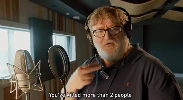 Watch and share Gabe Newell GIFs and Celebs GIFs by MsDarkLow on Gfycat