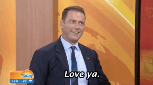 Watch and share R F T P L Jan 16, 2016 / #love Ya#today Show#karl Stefanovic#australia#australian#love#love You#buzzfeed GIFs on Gfycat