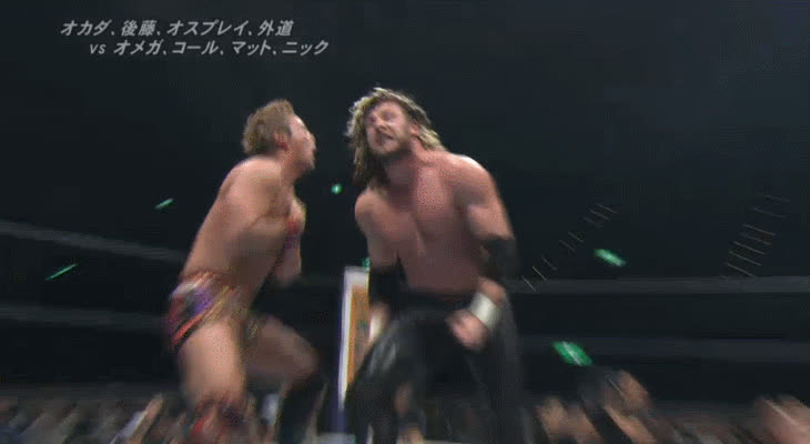 HighQualityGifs, SquaredCircle, [NJPW SPOILERS] Kenny Omega / Kazuchika Okada GIFs