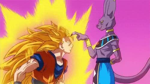 Watch and share Calm Down, Goku, Dragonball Z, Super Saiyan, Flick GIFs on Gfycat
