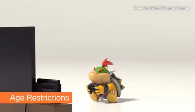Watch and share Bowser & Bowser Jr's Adorable Switch Parental Controls (ENG) GIFs on Gfycat