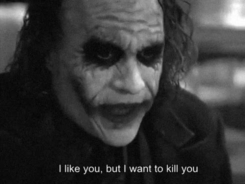 Watch and share Heath Ledger GIFs and Hate You GIFs by Reactions on Gfycat