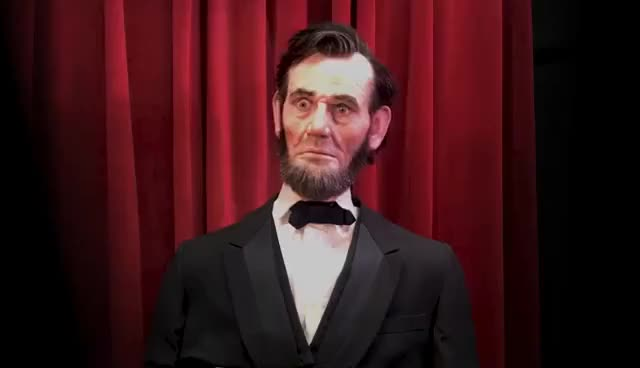 Watch and share Lincoln Animatronic GIFs on Gfycat