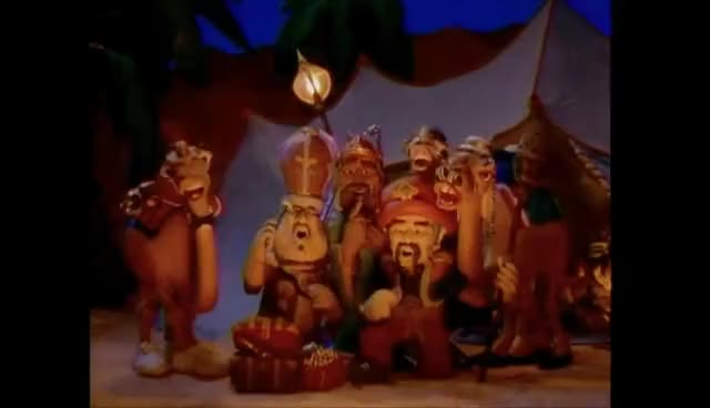 Watch We Three Kings - Claymation Christmas HQ GIF on Gfycat. Discover more Kings, animation, camels, carol, christmas, claymation, cute, funny, sing GIFs on Gfycat
