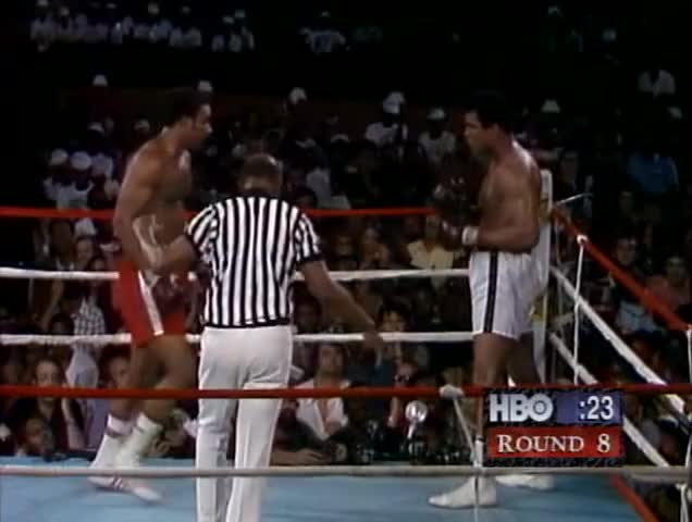 Watch Muhammad Ali takes down George Foreman (1974) GIF by @prsouthern on Gfycat. Discover more George foreman, Heavyweight, ali, boxing, champion, combo, fighting, foreman, greatest, knockout, muhammad ali, punch, upset GIFs on Gfycat