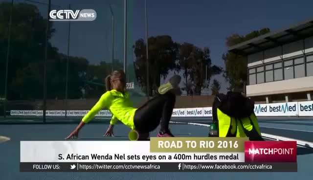 Watch and share S. African Wenda Nel Sets Eyes On A 400m Hurdles Medal In Olympics GIFs on Gfycat