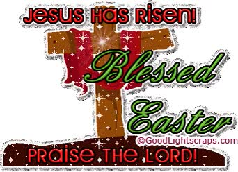 Watch and share Jesus Has Risen Blessed Easter Praise The Lord GIFs on Gfycat