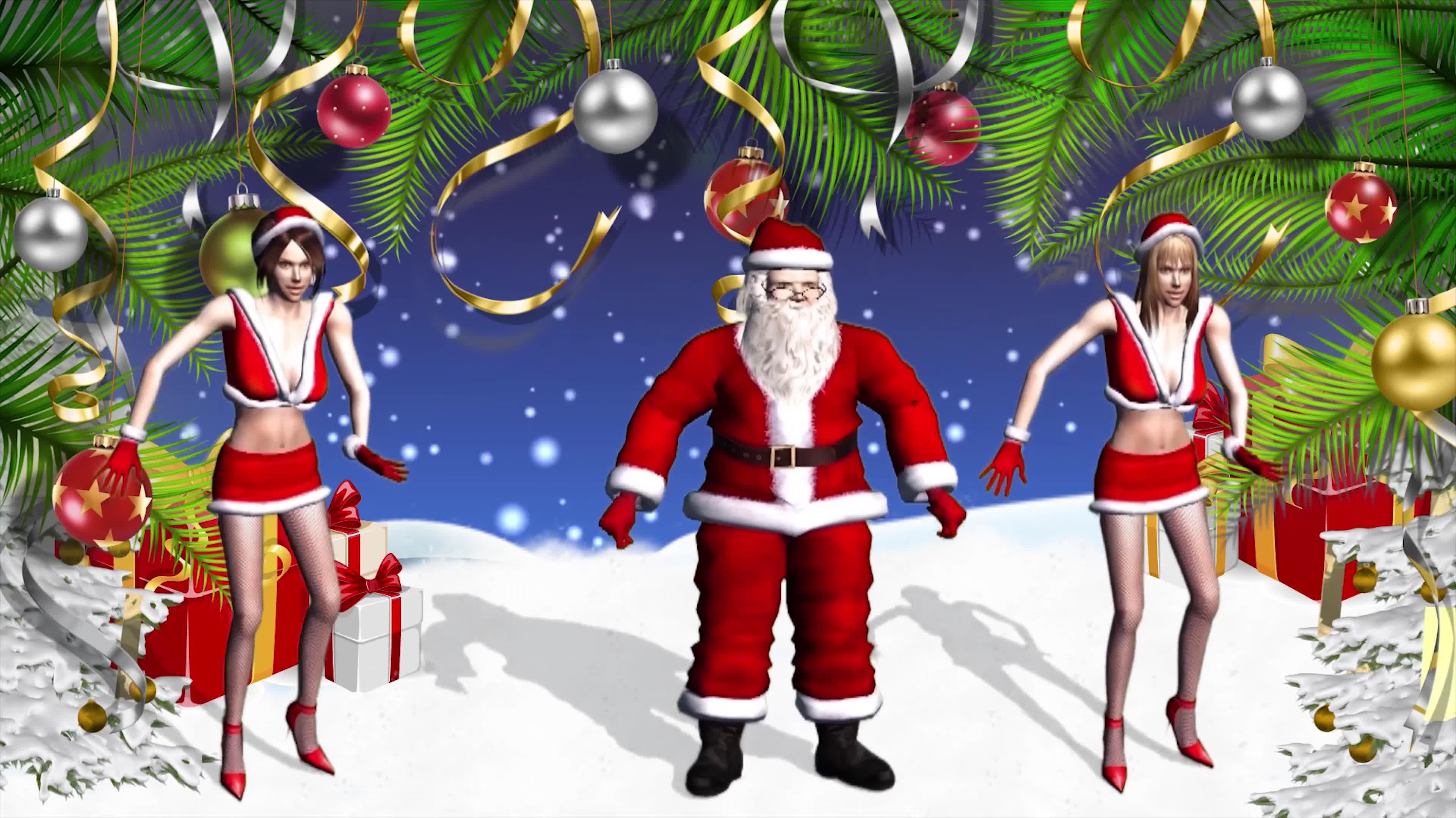 Танцевальные открытки с новым годом