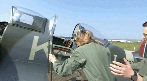 Watch and share Female Pilot GIFs on Gfycat