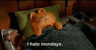 Watch and share Garfield GIFs and Mondays GIFs on Gfycat