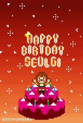 Watch and share 🐰アイリーン🐰 #ROOKIE - HAPPY BIRTHDAY! สุขสันต์วันเกิดนะเจ้าหมี! #SEULGI #REDVELVET GIFs on Gfycat