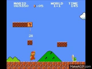 Watch and share GSCentral.org - Super Mario Bros. (NES) - Jump On Goomba O Turtle And Jump Repeat For 1UPs (GG) GIFs on Gfycat