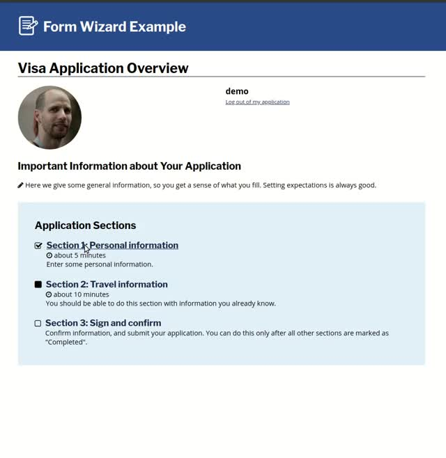 Watch and share Form Wizard Example GIFs by amitaibu on Gfycat