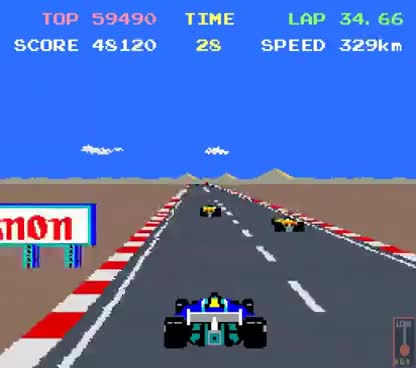 Watch and share Arcade Game: Pole Position II (1983 Namco/Atari) GIFs on Gfycat