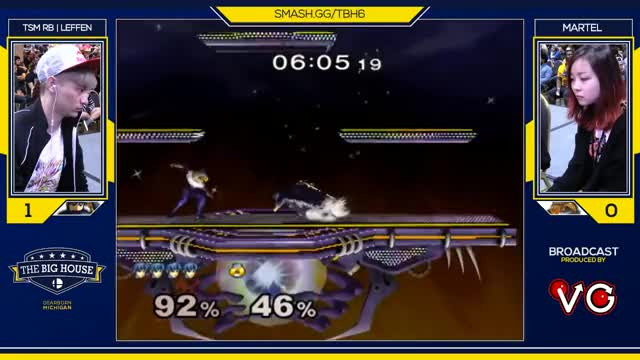 TBH6 SSBM - TSM RB | Leffen (Marth) Vs. Martel (Sheik) - Smash Melee Pools