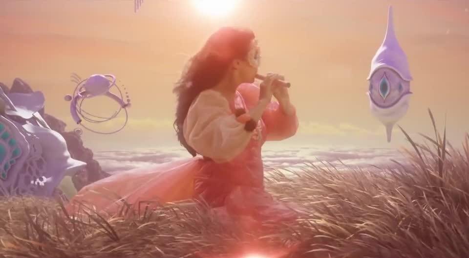 art, bjork, magical, stunning, trippy, Björk: The Gate GIFs