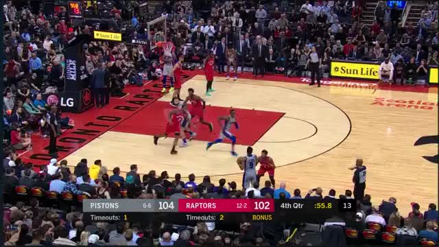 Watch and share Detroit Pistons GIFs and Toronto Raptors GIFs on Gfycat