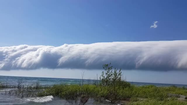 Watch and share Rare Morning Glory Cloud Off Lake Michigan GIFs on Gfycat