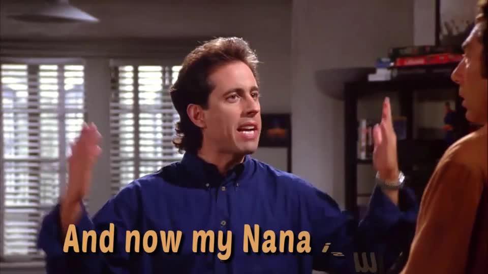 checks, jerry seinfeld, kramer, michael richards, nana, seinfeld, Nana Checks Seinfeld GIFs