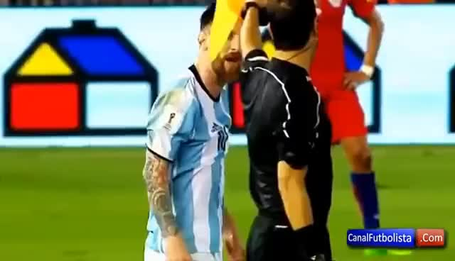 Watch and share MESSI Insulta A Los Árbitros Del Argentina Vs Chile Y No Es Expulsado • 2017 GIFs on Gfycat