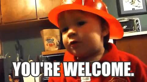 Watch You're Welcome. GIF by @donjuan02 on Gfycat. Discover more clapp, cute, fireman, gratitude, halloween, kid, thanks, you're welcome GIFs on Gfycat