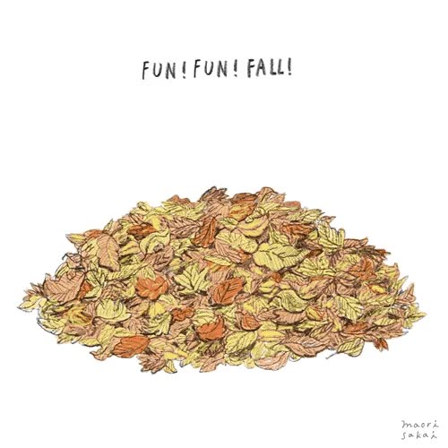 Watch and share Pile Of Leaves GIFs and Maori Sakai GIFs by Reactions on Gfycat