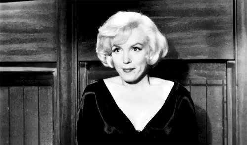 Watch and share Some Like It Hot GIFs and Marilyn Monroe GIFs on Gfycat