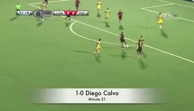 Watch and share Golazo De Diego Calvo Al Tigres UANL De Mexico GIFs on Gfycat