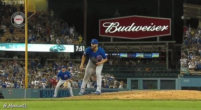 chicubs, Jake Arrieta reaction after no-hitter (reddit) GIFs