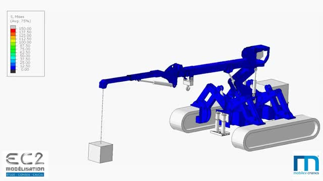 Watch Simulation numérique d'une grue (Abaqus) GIF on Gfycat. Discover more related GIFs on Gfycat