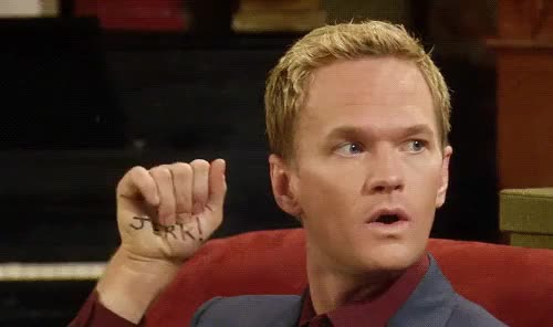 Watch You're a jerk. [How I Met Your Mother HIMYM Barney Stinson NPH Neil Patrick Harris] (reddit) GIF by @jaxspider on Gfycat. Discover more gfycatdepot GIFs on Gfycat