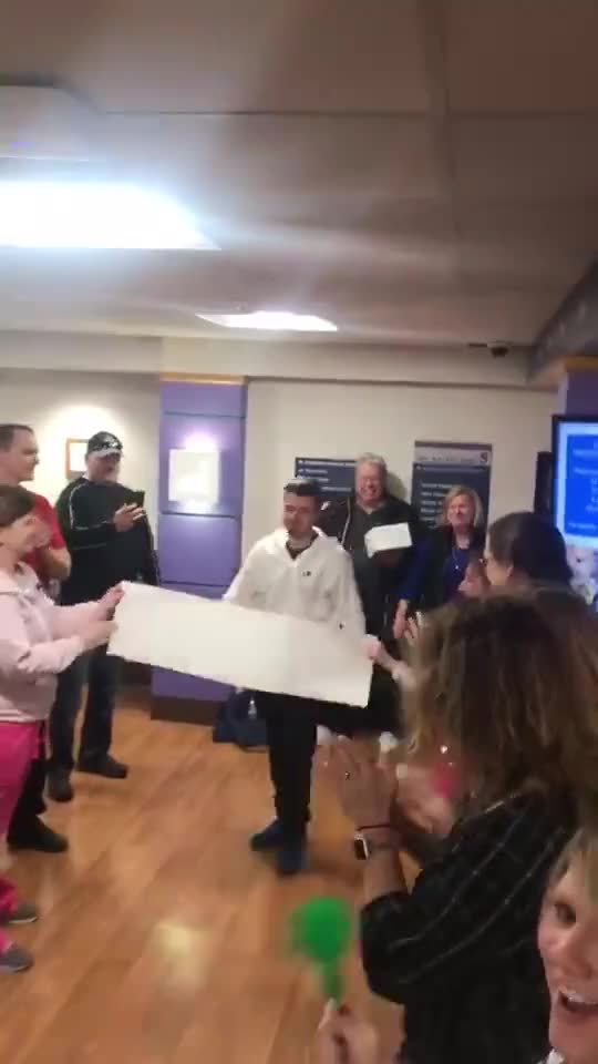 Watch and share Matt, After 3.5 Years Of Receiving Chemotherapy For Acute Lymphoblastic Leukemia, Finally Got Last Treatment And Got To Ring The Bell. GIFs by GIFs For Everything on Gfycat