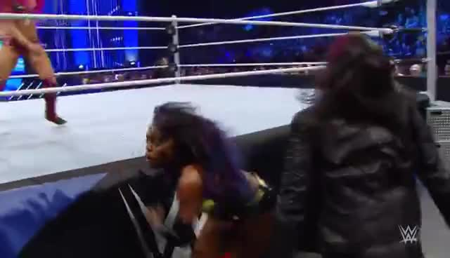 Sasha Banks, Sasha Banks foot choke GIFs