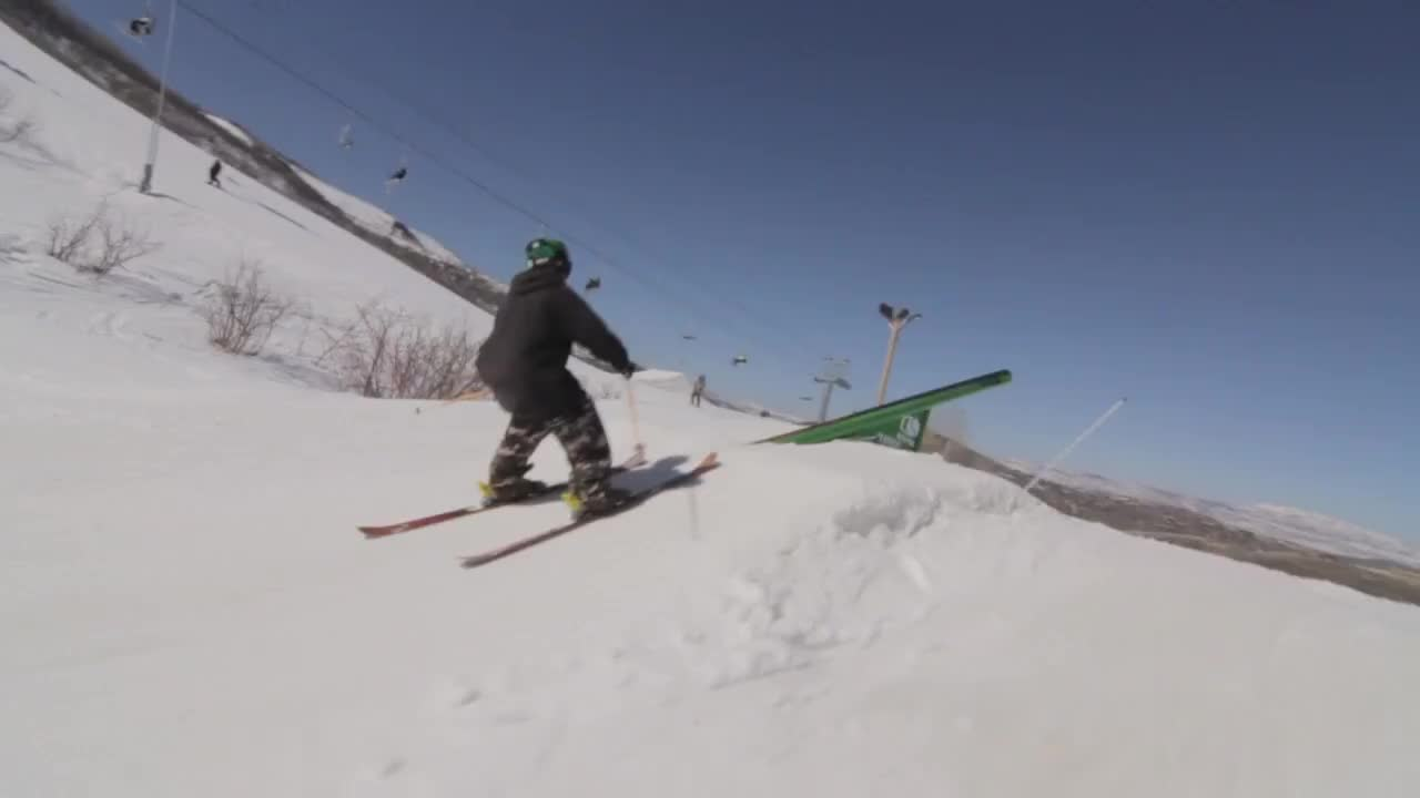 freeskiing, park city, skier, skiing, sports, tom wallisch, utah, SPINNING LIKE A TOP GIFs