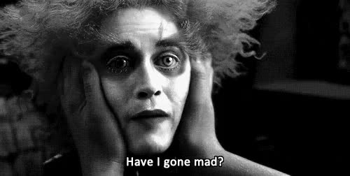 Watch insanity GIF on Gfycat. Discover more 2010, alice in wonderland, johnny depp, mad hatter, madness, tim burton GIFs on Gfycat